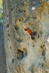 Kurt Jensen climbing at The Bubble, Mt. St. Helena, California